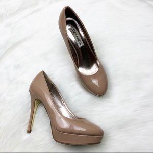 Steve Madden Nude Platform Heeled Shoes Size 7